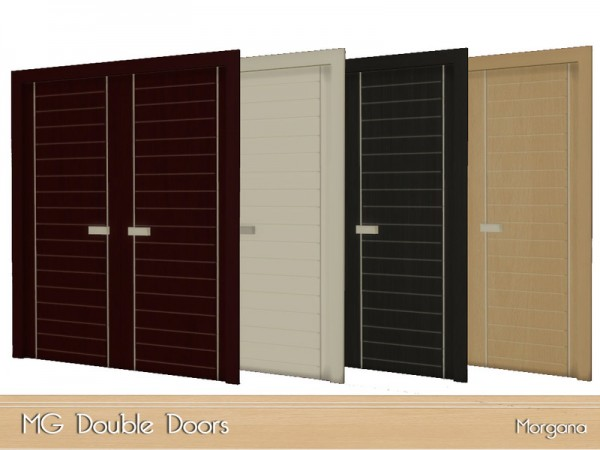 The Sims Resource Mg Double Doors By Morgana14 Sims 4