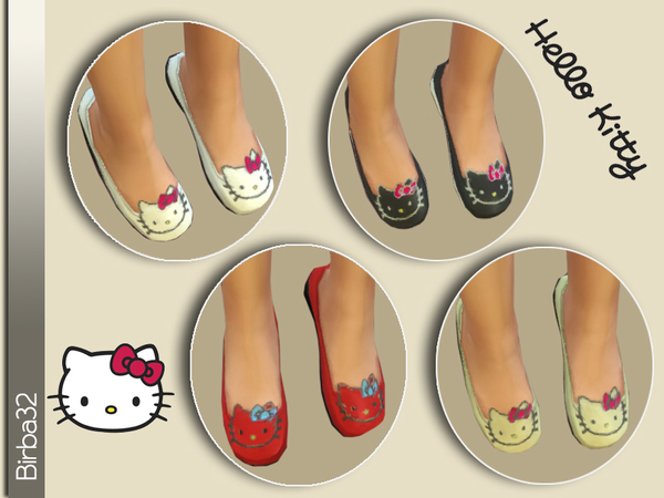 The Sims Resource: Hello Kitty shoes for children by