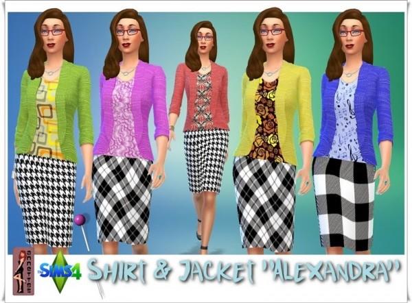 Annett`s Sims 4 Welt: Shirt & Jacket Alexandra