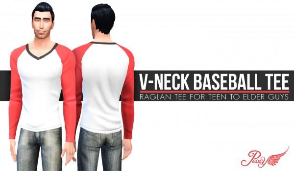 Simsational designs: V Neck Baseball Tee