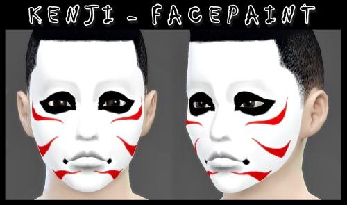 Decay Clown Sims: Kenji   face paint
