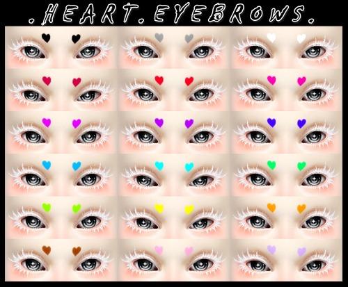Decay Clown Sims: Heart eyebrows