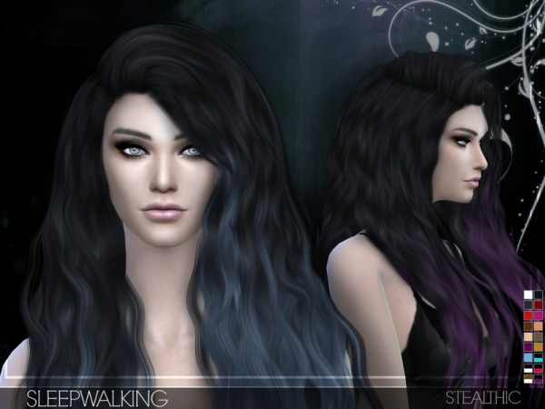 The Sims Resource: Sleepwalking (Female Hair) by Stealthic • Sims 4 Downloads