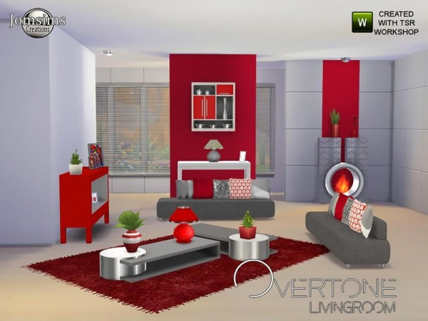The Sims Resource: Overtone living Room by JomSims