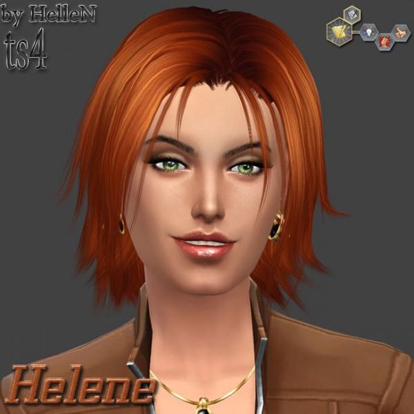 Sims Creativ: Helene female sims model by HelleN