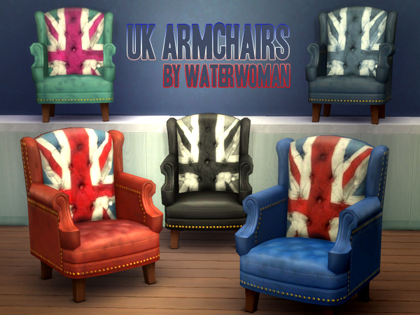 Akisima Sims Blog: UK Armchairs