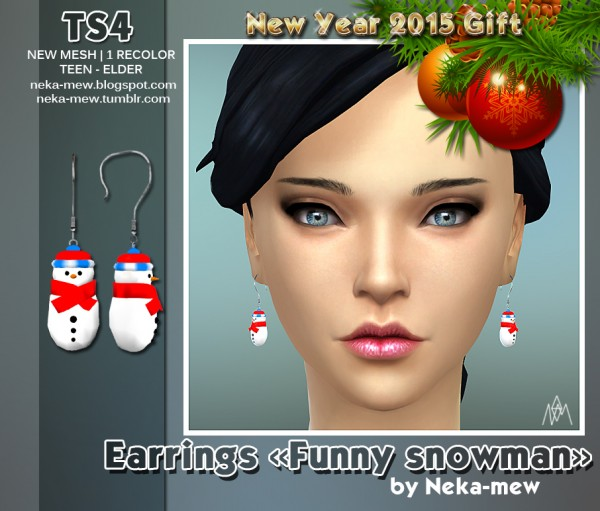 Neka mew: Funny snowman
