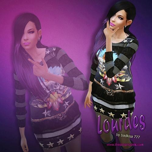 The Sims Models: Lourdes sim by badkisa777