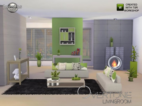 The sims resource overtone living room by jomsims sims for Modern living room sims 4