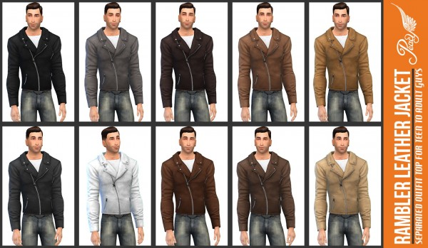 Simsational designs: Rambler Leather Jacket