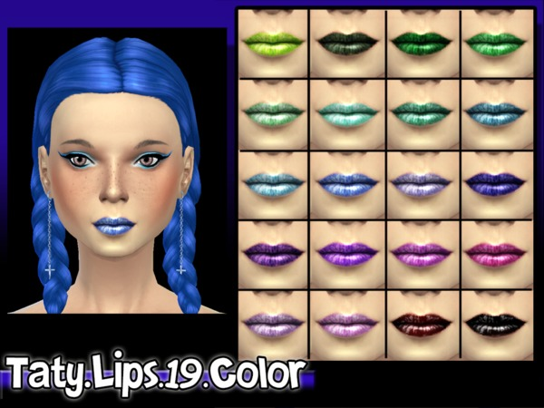 The Sims Resource: Lipstick 19 Color by Taty