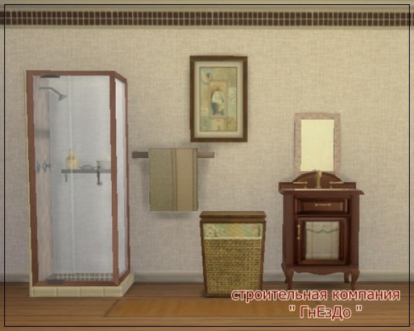 Sims 3 by Mulena: A set of furniture for the bathroom Brick