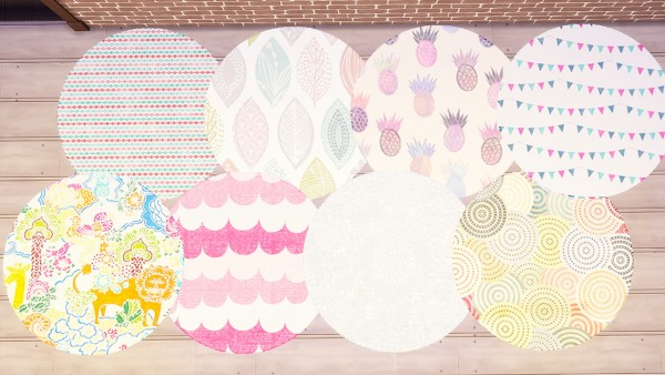 Simkea Round Rug Set Sims 4 Downloads