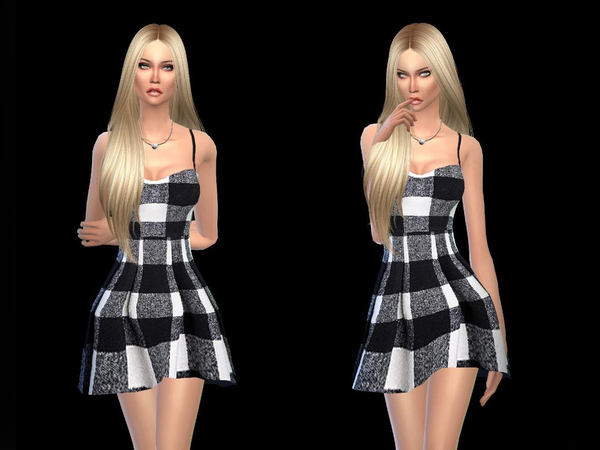 The Sims Resource: Minidress black and white  by Simsoertchen
