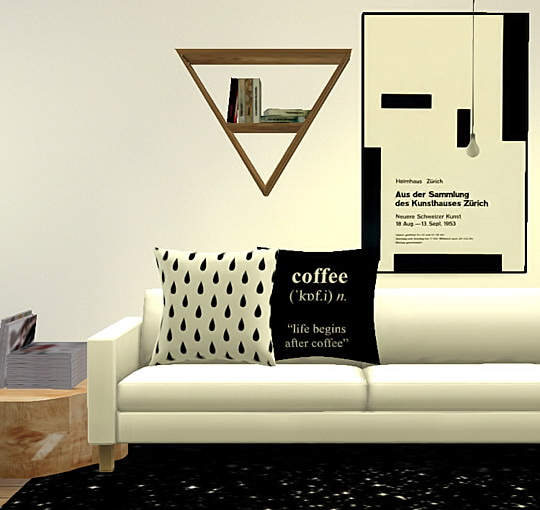 Pure Sims: Assorted pillows and prints sets