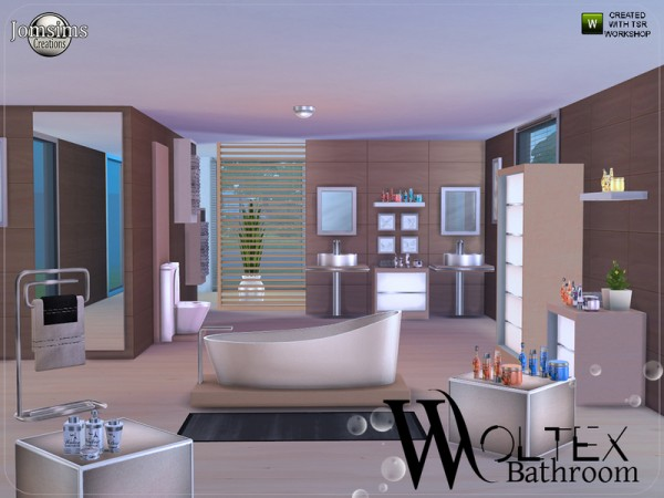 the sims resource: woltex bathroom by jomsims • sims 4 downloads, Badezimmer ideen