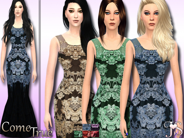 The Sims Resource: Come True  Formal Dress by Java Sims