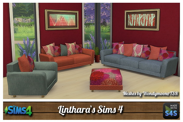 Lintharas sims 4 sofa sims 4 downloads for Sofa bed sims 4