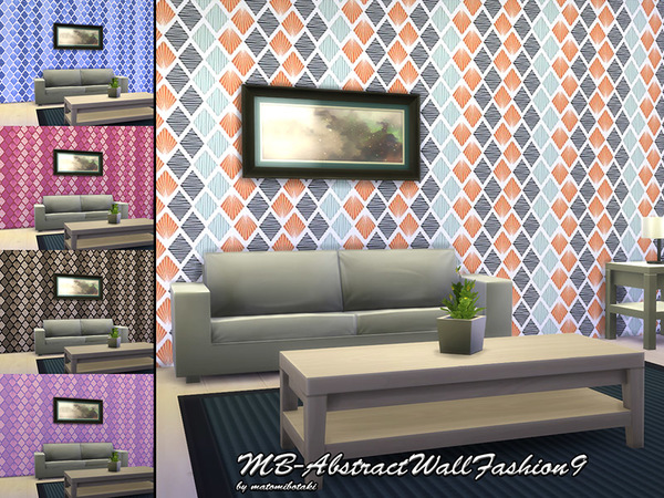 The Sims Resource: Abstract Wall Fashion 9 by matomibotaki
