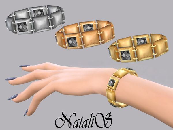 The Sims Resource: Squares metal bracelet by NataliS