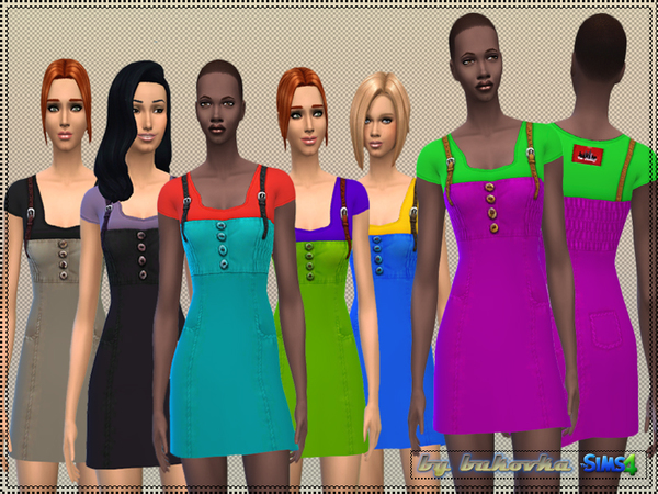 The Sims Resource: Sundress with leather straps by Bukovka
