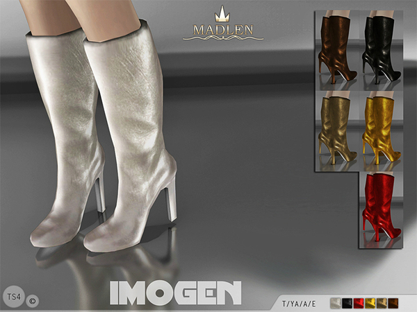 The Sims Resource: Madlen Imogen Boots by MJ95