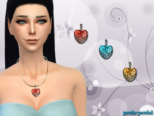 The Sims Resource: Loving heart necklace by paulo paulol