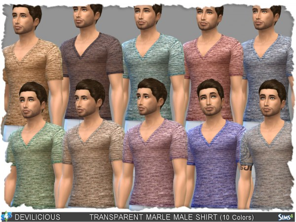 The Sims Resource: Transparent Marle Shirt for Males by Devilicious