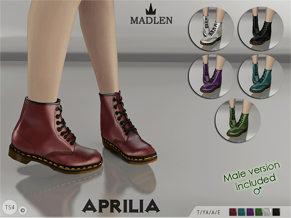 The Sims Resource: Madlen Aprilia Boots by MJ95