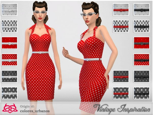 The Sims Resource Recolor Pin Up Dress Lunares 2 By