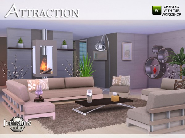 the sims resource attraction living room by jomsims. Black Bedroom Furniture Sets. Home Design Ideas