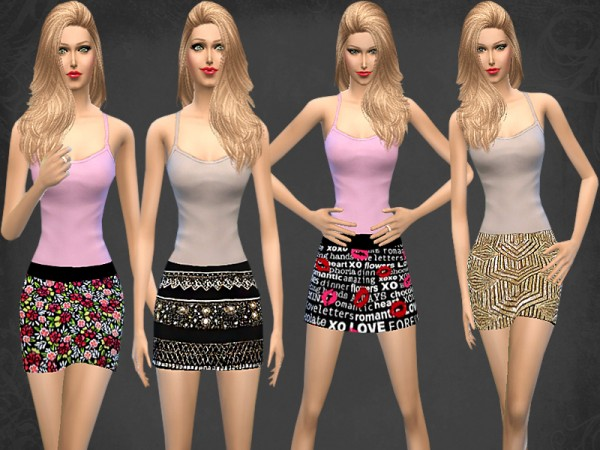 The Sims Resource: Mini Skirt Set by Melisa Inci