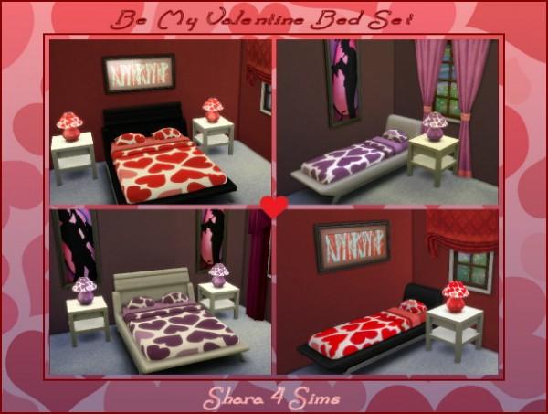 Shara 4 Sims: Be My Valentine Bed Set