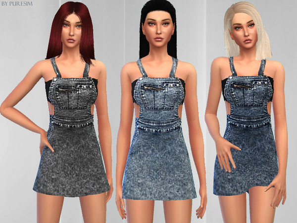 The Sims Resource: Salopette Dress by PureSim