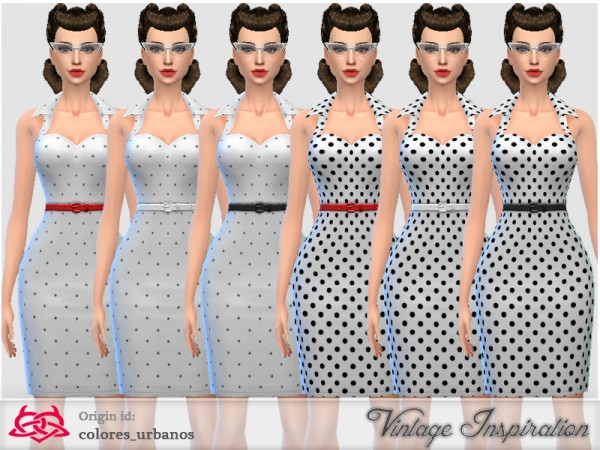 The Sims Resource: Recolor Pin Up dress lunares 2 by Colores Urbanos