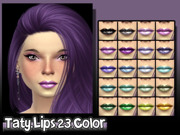 The Sims Resource: Lipstick 23 Color by Taty