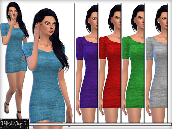 The Sims Resource: Tulle Fabric Mini Tight Dress by DarkNighTt