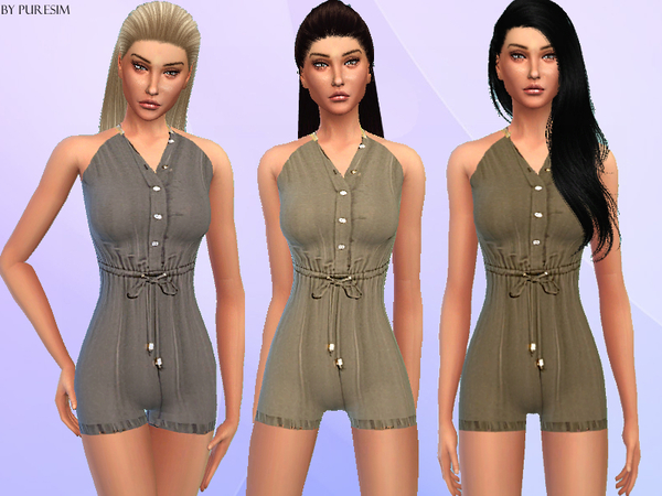 The Sims Resource: Casual Jumpsuit by PureSim