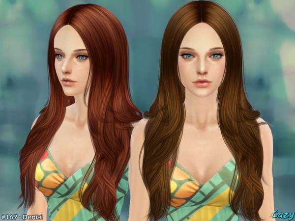 The Sims Resource: Denial   Female Hairstyle by Cazy