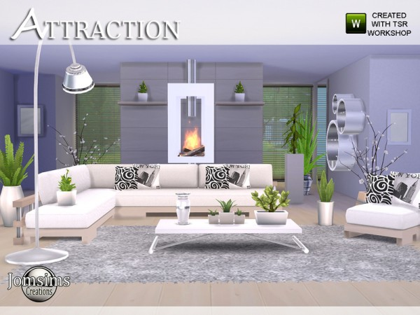 The Sims Resource: Attraction living room by jomsims