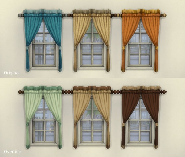 "Mod The Sims: One Tile ""Caress"" Curtain + Overrides by plasticbox"