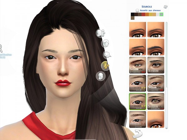 The Sims Resource: Eyebrows18 F by S  Club