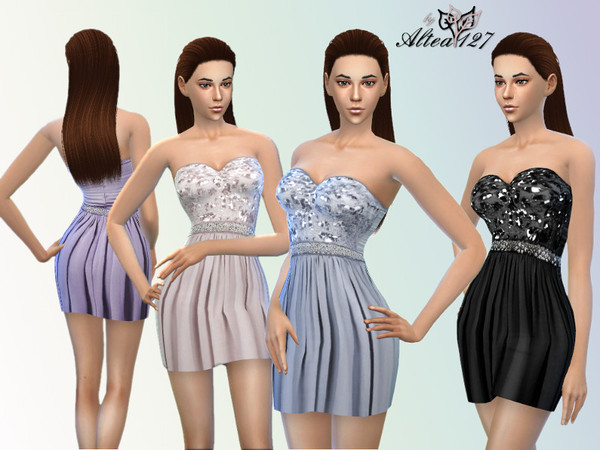 The Sims Resource: Gaia dress by Altea127