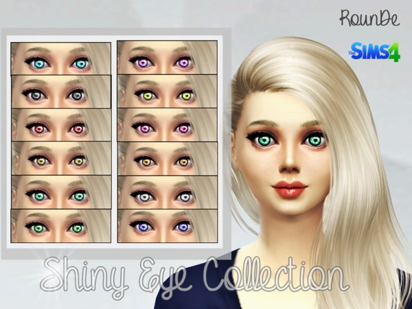 The Sims Resource: Shiny Eye Collection 2 by RounDe