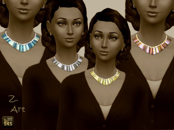 The Sims Resource: Mosaic  necklace by Zuckerschnute20