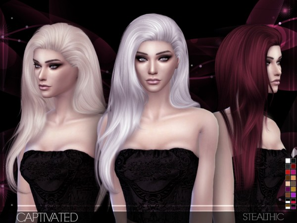 The Sims Resource: Stealthic - Captivated hair • Sims 4 Downloads