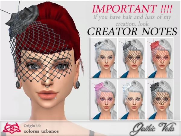 The Sims Resource: Gothic Veil Accessory by ColoresUrbanos