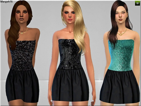 Sims 3 Addictions: Lets Party Dresses by Margies Sims