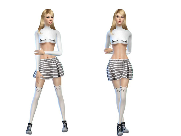 The Sims Resource: Sweet summer outfit kawaii by Simsoertchen