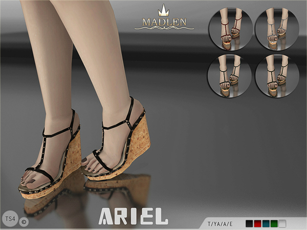 The Sims Resource: Madlen Ariel Shoes by MJ95
